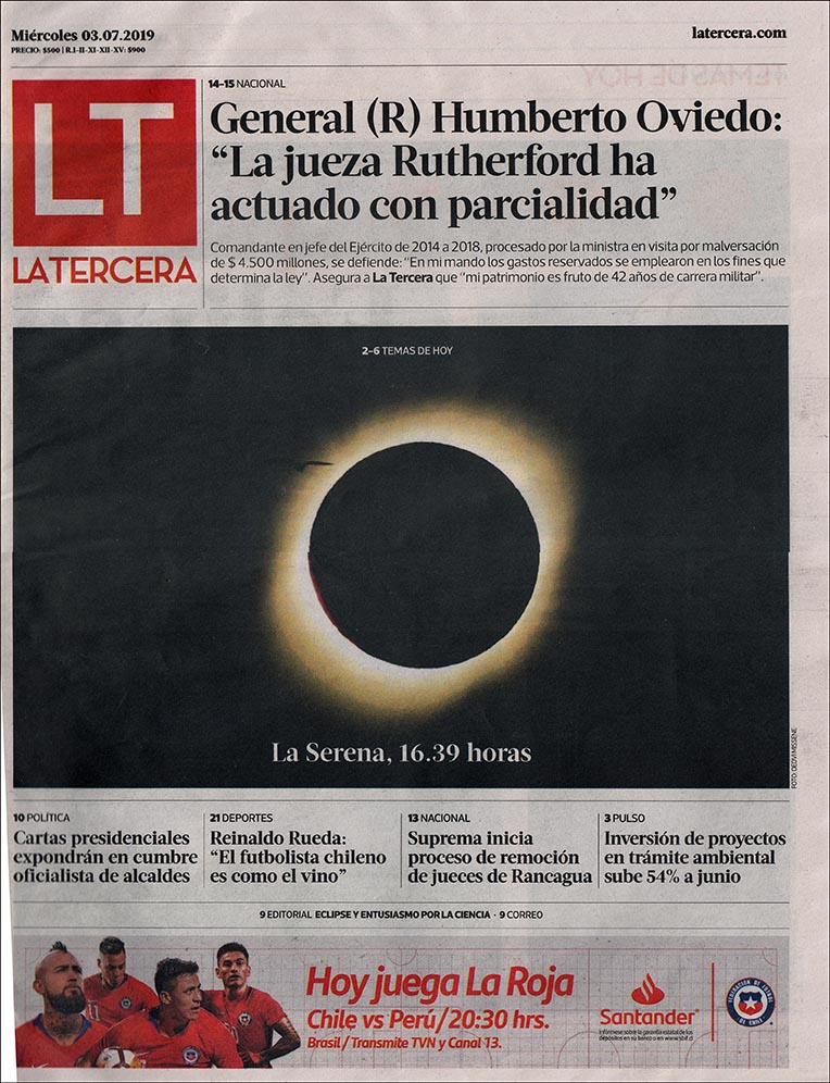 front page story day after eclipse